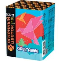 ОС6221 батарея салютов ОРИГАМИ (0,8''х16) *1/24 НАРОДНАЯ ЦЕНА!