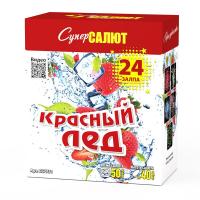 """СС7731 батарея салютов КРАСНЫЙ ЛЁД МОДУЛЬ (1,2""""х24) *1/4"""